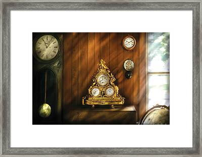 Clockmaker - Clocks Framed Print by Mike Savad