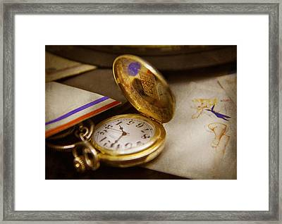 Clockmaker - Time Never Waits  Framed Print by Mike Savad