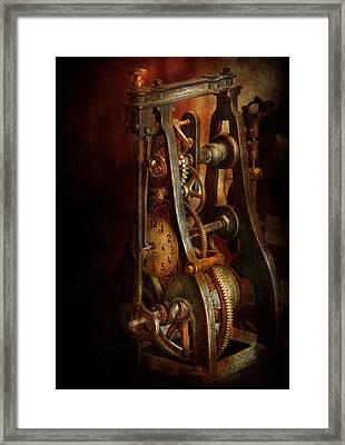 Clockmaker - Careful I Bite Framed Print by Mike Savad