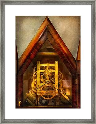Clocksmith - Clockwork  Framed Print by Mike Savad