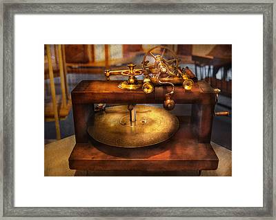Clocksmith - The Gear Cutting Machine  Framed Print by Mike Savad