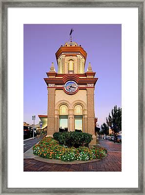 Clocktower Framed Print by Ryan Heffron