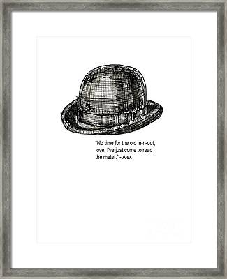 Clockwork Orange Quote Tee Framed Print