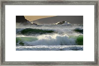 Clogher Beach In Kerry Framed Print