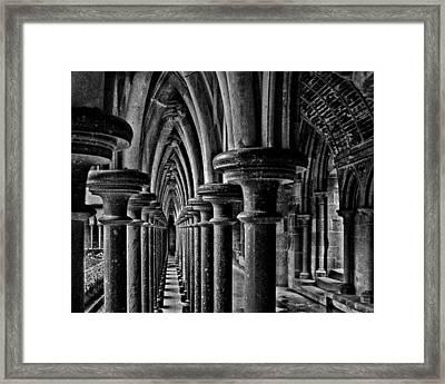 Cloister Colonnade Framed Print by Nikolyn McDonald