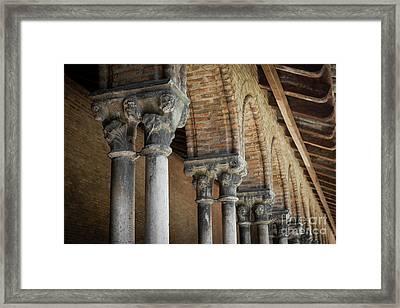 Cloister Columns, Couvent Des Jacobins Framed Print by Elena Elisseeva