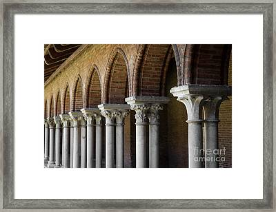 Framed Print featuring the photograph Cloister, Couvent Des Jacobins by Elena Elisseeva
