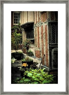Cloister Garden - Cirencester, England Framed Print