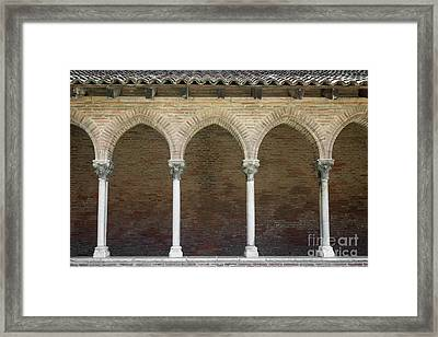Cloister In Couvent Des Jacobins Framed Print by Elena Elisseeva