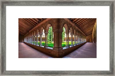 Cloister Insde Eglise Des Jacobins Or Church Of The Jacobins Framed Print