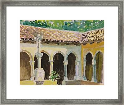 Framed Print featuring the painting Cloister, Nyc by Nicolas Bouteneff
