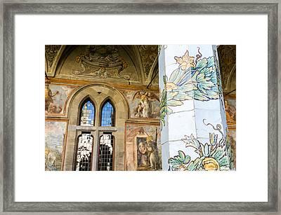 cloister of St. Chiara deyail Framed Print by Massimo Lama
