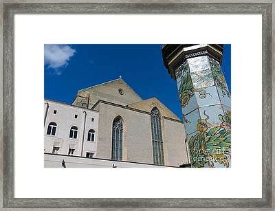 Cloister St. Chiara Framed Print by Massimo Lama