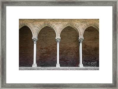 Cloister With Arched Colonnade Framed Print by Elena Elisseeva