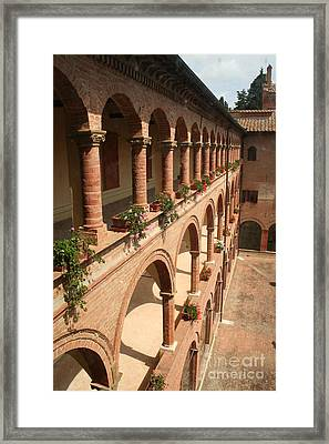 Cloistered Courtyard Framed Print by Christiane Schulze Art And Photography