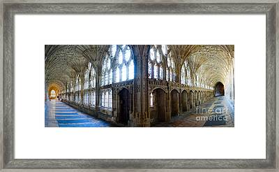Cloisters, Gloucester Cathedral Framed Print by Colin Rayner