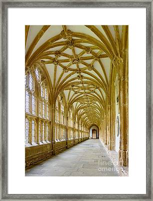 Cloisters, Wells Cathedral Framed Print by Colin Rayner