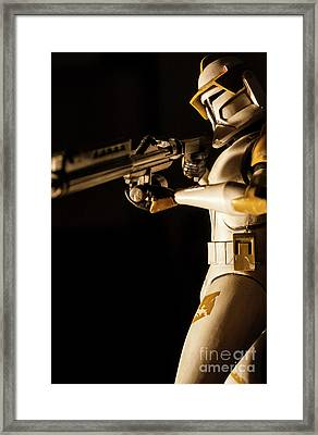 Framed Print featuring the photograph Clone Trooper 6  by Micah May