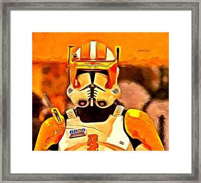 Clone Trooper Commander  - Van Gogh Style -  - Da Framed Print