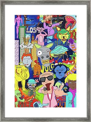 Cloooownin Framed Print by JB McKracken