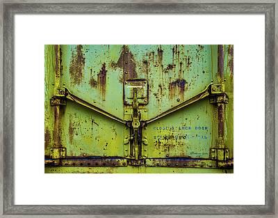 Close And Lock Framed Print