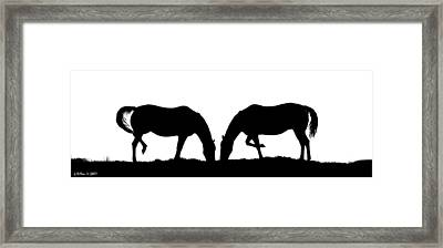 Close Companions Framed Print