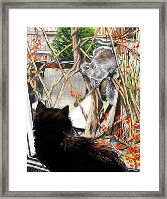 Close Encounter Framed Print by Eileen Patten Oliver