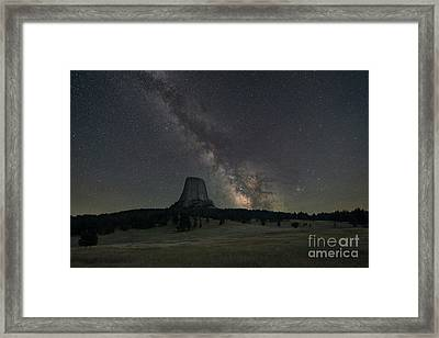 Close Encounters Of The Third Kind Devils Tower Framed Print