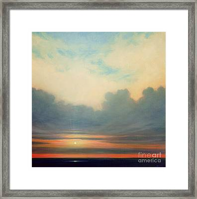 Close Of Day Framed Print