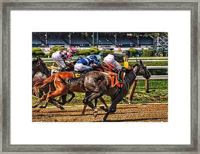 Close Running Framed Print