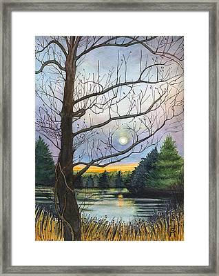 Close To Dusk Framed Print