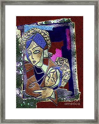 Close To Her Heart Framed Print