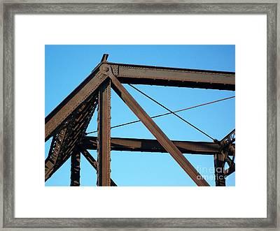 Close Up Bridge Framed Print by Marsha Heiken
