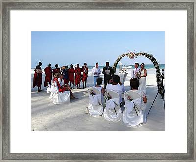 Close Up Kenya Baach Wedding Framed Print