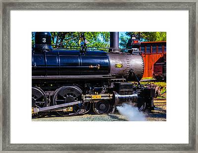 Close Up No 3 Steam Train Framed Print by Garry Gay