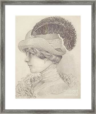 Close-up Of A Young Woman, Austria, 1910 Framed Print