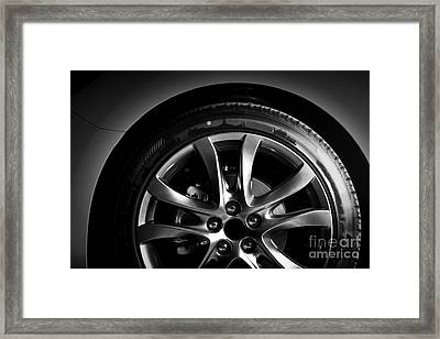 Close-up Of Aluminium Rim Of Luxury Car Wheel Framed Print