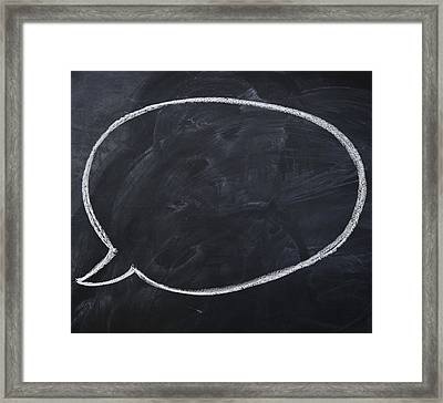 Close Up Of Blank Speech Bubble Framed Print