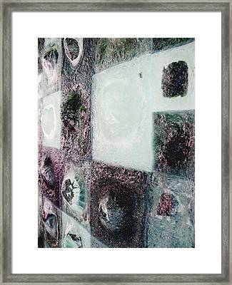 close up of Country Hills panel 5 Framed Print