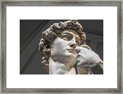 Close Up Of David By Michelangelo Framed Print