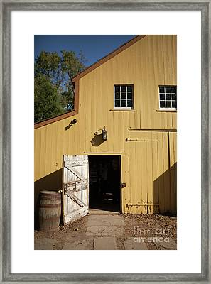 Close Up Of Landis Valley Yellow Barn Framed Print