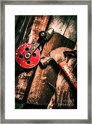 Close Up Of Old Tools Framed Print by Jorgo Photography - Wall Art Gallery