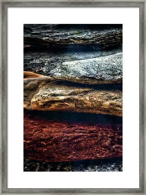 Close Up Of Rock Cairn At Buddha Beach - Sedona Framed Print by Jennifer Rondinelli Reilly - Fine Art Photography