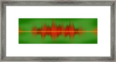 Close-up Of Sound Waves Framed Print