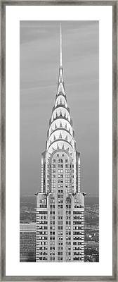 Close Up Of The Chrysler Building At Sunset. It Is The View From 42nd Street And 5th Avenue. Framed Print by Panoramic Images
