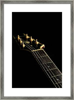 Close-up Of The Electric Guitar Framed Print