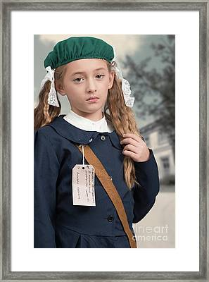 Close Up Of War Time Evacuee Framed Print by Amanda Elwell