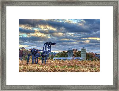 Close Up The Iron Horse Farm Scene Art Framed Print by Reid Callaway