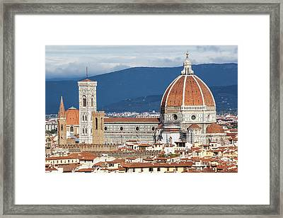 Close Up View Of Duomo In Florence, Italy Framed Print by Jovanovic Dragan