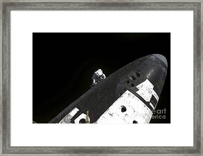 Close-up View Of The Nose Cone On Space Framed Print by Stocktrek Images